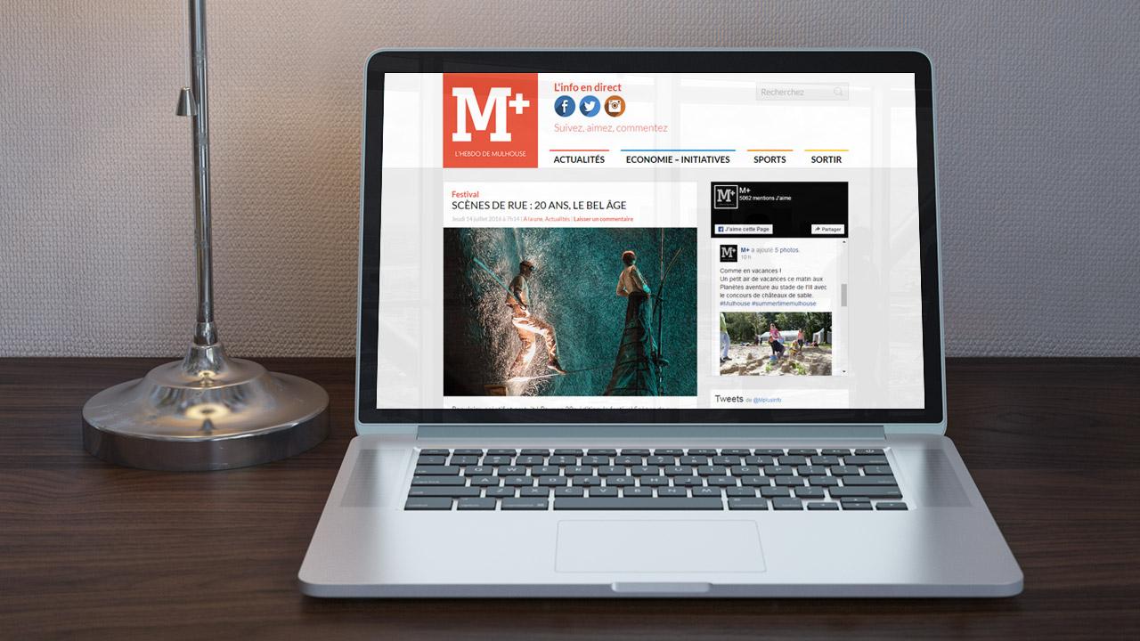 Référence |M+, l'hebdo de Mulhouse : site Internet