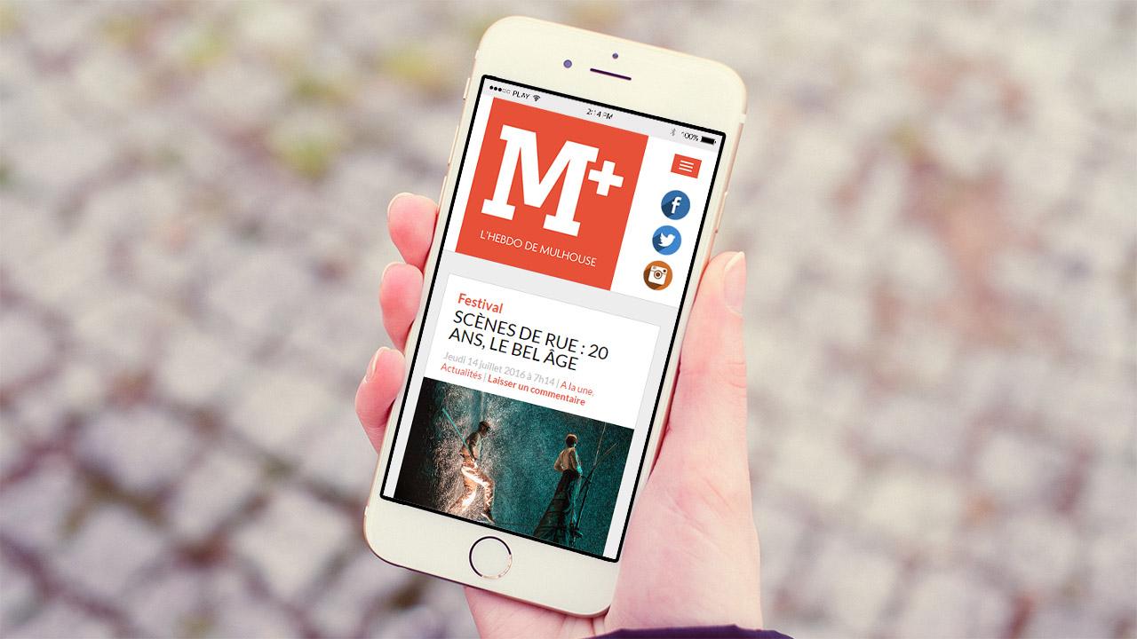 Référence |M+, l'hebdo de Mulhouse : site mobile