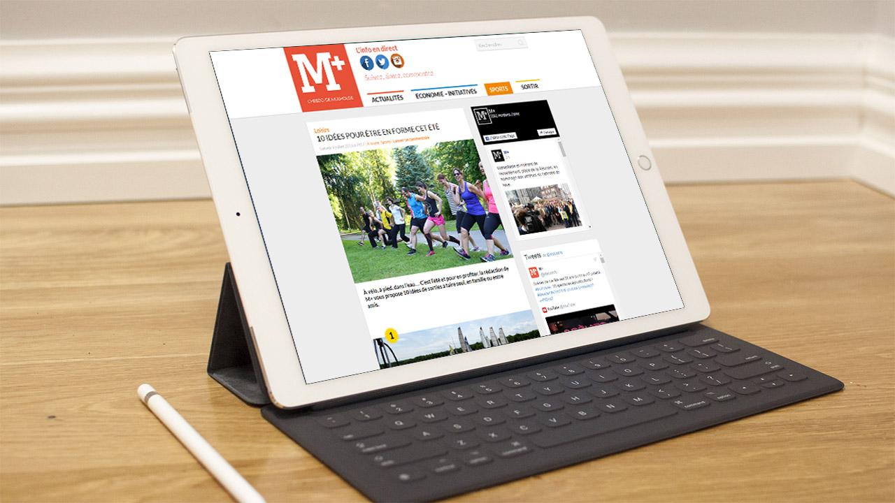 Référence |M+, l'hebdo de Mulhouse : site tablette